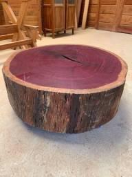 Mesa de centro rústica madeira Roxinho