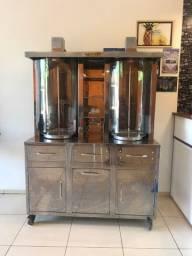 Máquina de churrasco grego