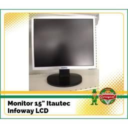 Lote de 7 monitores lcd 15'' e 17''