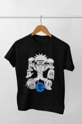 Camiseta de Manga Curta com Estampa Naruto Membros da Akatsuki
