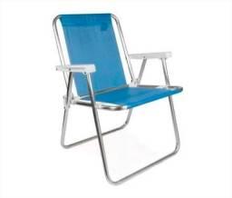Cadeira Praia Alumínio Leve e Dobrável
