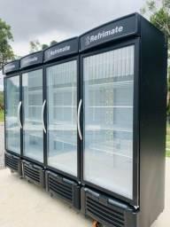 Geladeira expositora auto serviço visa cooler funcionando impecável