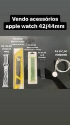 Acessórios AppleWatch 42-44mm. Carregador e pulseiras