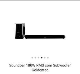 Soundbar 180W RMS com Subwoofer Goldentec