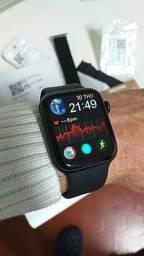Smartwatch iwo w46 com 30 dias de garantia ACEITAMOS CARTÕES
