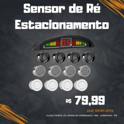 Sensor de Ré Estacionamento Branco/Prata