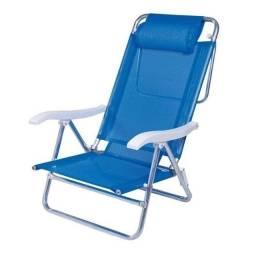 Cadeira Sol de Verão com Almofada Azul - Mor