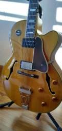 Título do anúncio: Guitarra Acústica Epiphone com Cap Seymour Duncan com Case Luxo