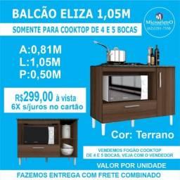 Balcão Eliza Terrano para***Colocar Fogão cooktop de 4 ou 5 Bocas