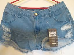 Lindo short jeans tamanho 44 Novo.