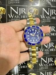Relogio Rolex misto azul automatico novo