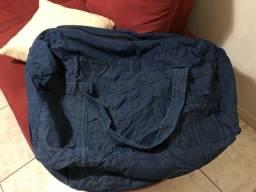 bolsa viagem jeans grande