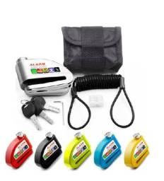 Trava Disco Moto Alarme Sensor Movimento Brinde Bolsa Cabo