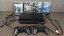 Playstation 3 (Pouco Uso/465 GB) + 04 Jogos