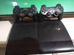 PS3 Super Slim Semi novo 2 controle