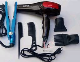Prancha titaniun e secador de cabelo bopai