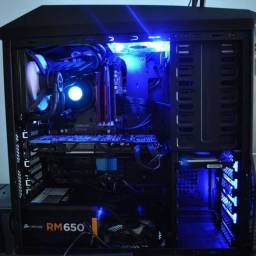 Gabinete Torre Gamer Zalman Z11 Plus Usado + 4 Cooler Led Azul
