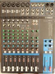 som, mesa Yamaha mg 12 power, caixas jbl, amplificador mg 2400