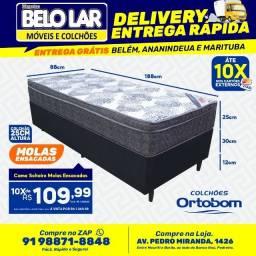 Cama Ortobom Solteiro Molas Ensacadas, Compre no zap *