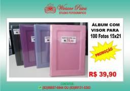 Álbum com Visor para 100 Fotos 15x21