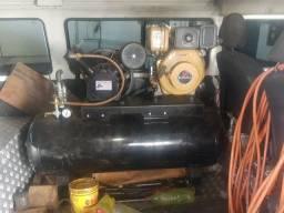 Compreensor com estacionário a Diesel