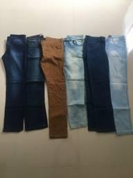 6 calças jeans masculino tamanho M