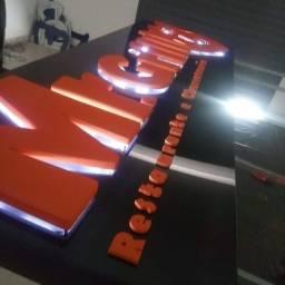 Placas em ACM-letras-led-toldos policarbonato e lona.