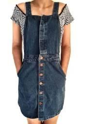 Brechó: jardineira jeans