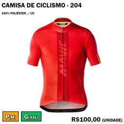 Camisa de Ciclismo 100% Poliéster