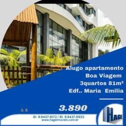 Apartamento de , 2 e 3 qts /boa viagem /semi mobilhado/