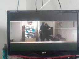 Tv/monitor mais receptor digital e antena