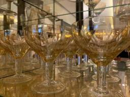 11 Taças Lapidadas de Champagne Hering