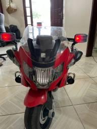 Moto Elétrica Infantil BMW Polícia Vermelha 12V