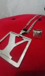 Cordão e anel de prata