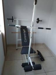 Estação de musculacao aparelho de ginastica divido em 4x