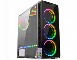 Gabinete k-mex gamer cg04g8 infinity4 rgb pto s/fonte