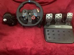 Volante G29 PS4/PC + Cambio H-Shifter COMPLETO