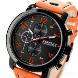 acdc040d926 Relógio Curren Pulseira Laranja!