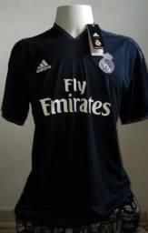 Camisa Time Adidas Real Madrid Preta 18 19 6d0ea70c1ea1f