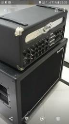 Amplificador Pedrone le Mark 2 mais gabinete 2x12 celestion vintage 30