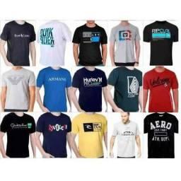 9c4b4f60c Kit c/5 camisetas estampadas gola redonda multimarcas atacado