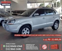 Prata Hyundai tucson 2.0 mpfi gls 16v 143cv flex 4p 2012 R$ 22.648 115000km - 2012