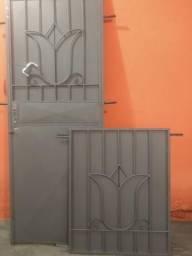 Porta de ferro chapa na janela
