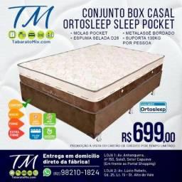 Super Oferta !! Conj. Casal Sleep Pocket 25Cm Molas Ensacadas!