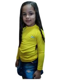 Kit 15 camisa uv proteção solar infantil