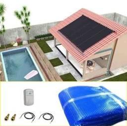Título do anúncio: Kit Aquecedor Solar Piscina 18,9 m2 (06 Placas 3m) Pratic