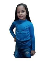 Kit 30 camisa manga longa proteção solar infantil