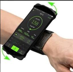 Suporte Celular de Punho Para Corrida Caminhada Musculação Função 180°