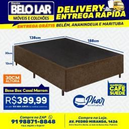 Base Box Casal Marrom, Compre no zap *