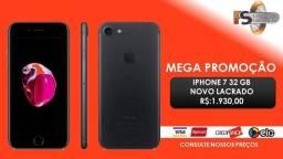 Promoção Iphone 7 preto 32 GB Lacrado Garantia 1 Ano Apple